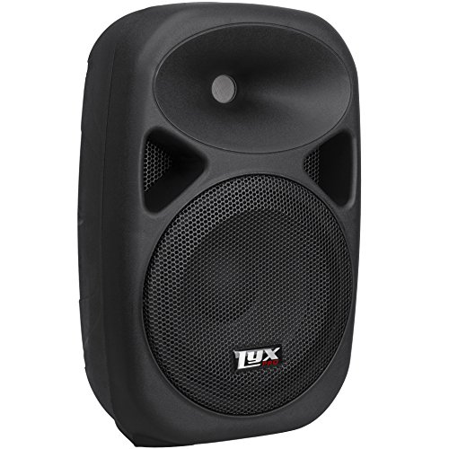 "LyxPro SPA-10 - 10"" Compact Portable PA System 110-Watt RMS Power Active Speaker with Equalizer, Bluetooth, SD Slot, USB, MP3, XLR, 1/4"", 3.5mm Input"