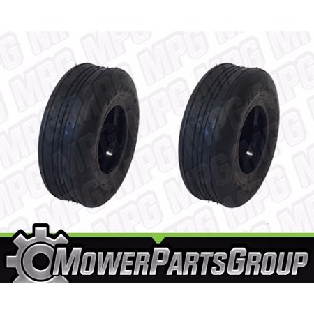 Wheelchair Tires Ribbed - (2) Puncture Resistant 11x4.00-5 Ribbed Tires with Liner Gravely Toro Hustler
