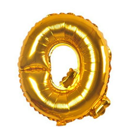 "Unique Bargains 40"" Gold Tone Foil Letter Q Balloon Helium Birthday Wedding Festival Decor"