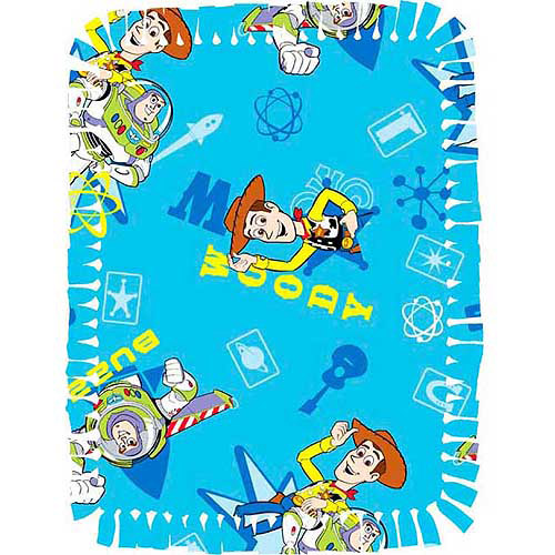 Creative Cuts Microfiber No Sew Throw Kit, Disney Toy Story, Blue