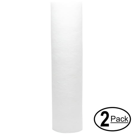 2-Pack Replacement for Woder UDF 2-Stage Polypropylene Sediment Filter - Universal 10-inch 5-Micron Cartridge for Woder UDF 2-stage Undercounter Fluoride Water Filtration System - Denali Pure Brand