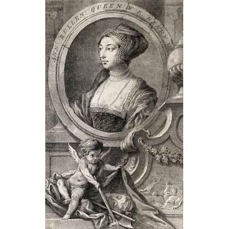 Anne Boleyn Also Spelled Bullen 1507-1536 English Queen Second Wife Of Henry Viii After Hans Holbein The Younger From History Of Hampton Court Palace In Tudor Times By Ernest Law Published London 1885 - Hampton Halloween Times