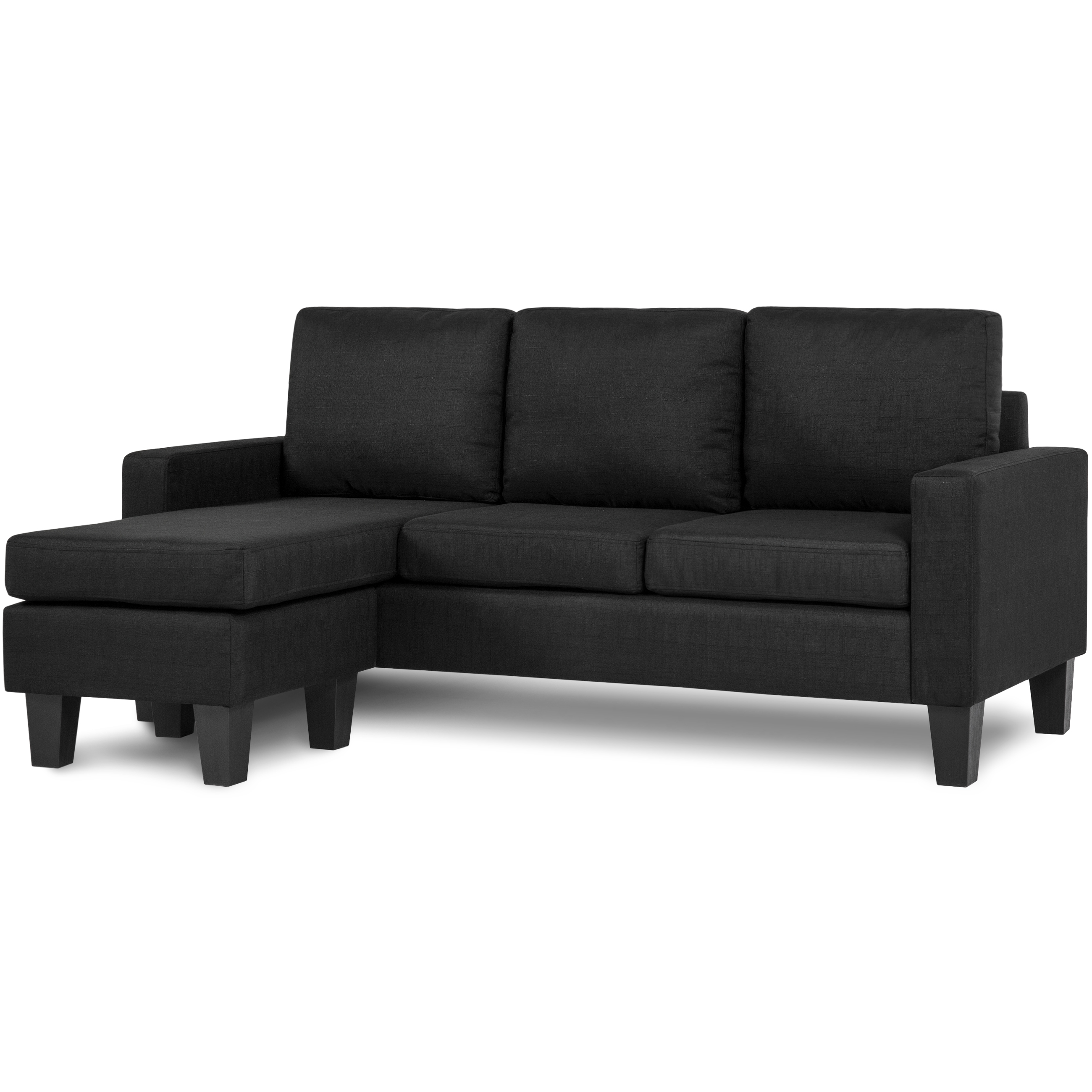 best choice products home linen lshape sectional sofa couch w reversible chaise ottoman