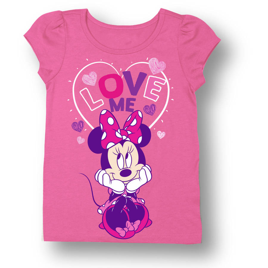 Minnie Mouse Baby Toddler Girl Love Me Short Sleeve T-Shirt