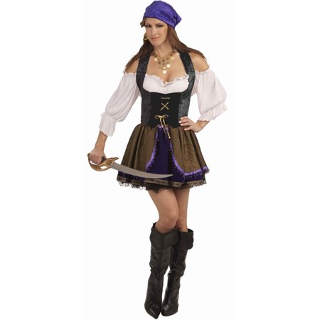 Vampire Womens Costume (Womens Large 10-16 Black Lace Pirate or Vampire Costume)