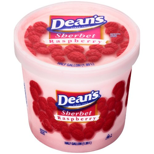 Dean's Sherbert Raspberry, 0.50 gallon