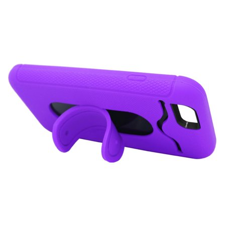 Insten Hybrid Case with stand/card slot For Apple iPhone 6/6s - Purple/Black - image 4 de 4