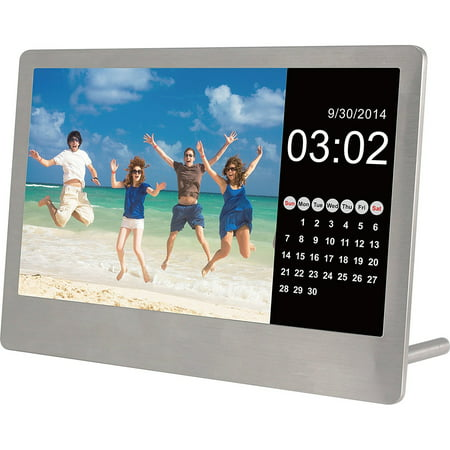 Sylvania Sdpf7977 7 Inch Stainless Steel Digital Photo Frame