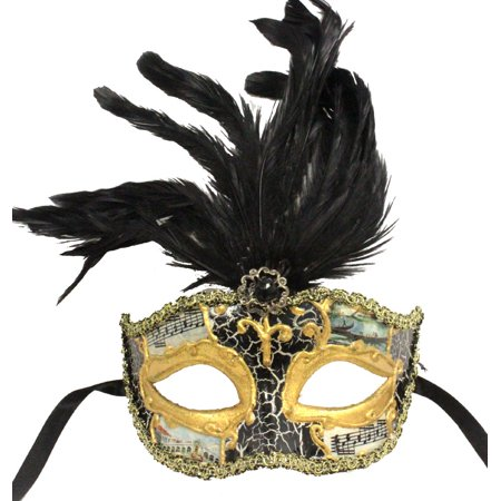 MASQUERADE MASK - Feathered Party Masks - VENETIAN