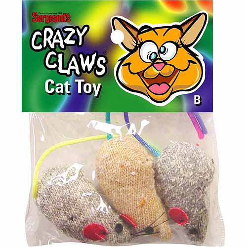 Sergeants Pet Care Products 'Crazy Claws™ Mice Catnip Toy Assorted Styles 3 Count