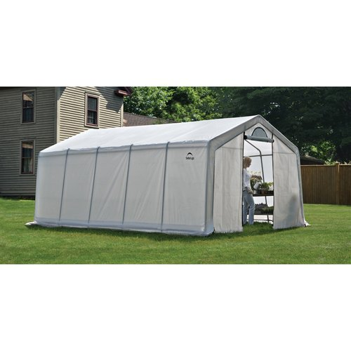 GrowIt Greenhouse-In-A-Box Pro Peak-Style, 12' x 20' x 8'