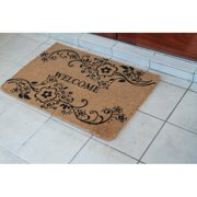 First Impression Floral Welcome Outdoor Door Mat