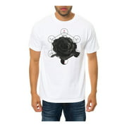 Black Scale Mens The Metation Rose Graphic T-Shirt