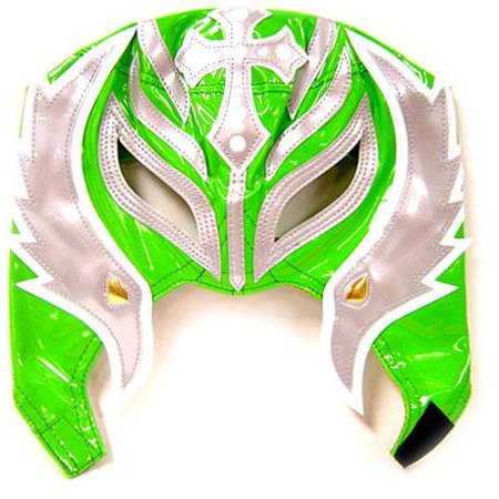 WWE Wrestling Rey Mysterio Replica Mask [Youth, Green & Gray] for $<!---->
