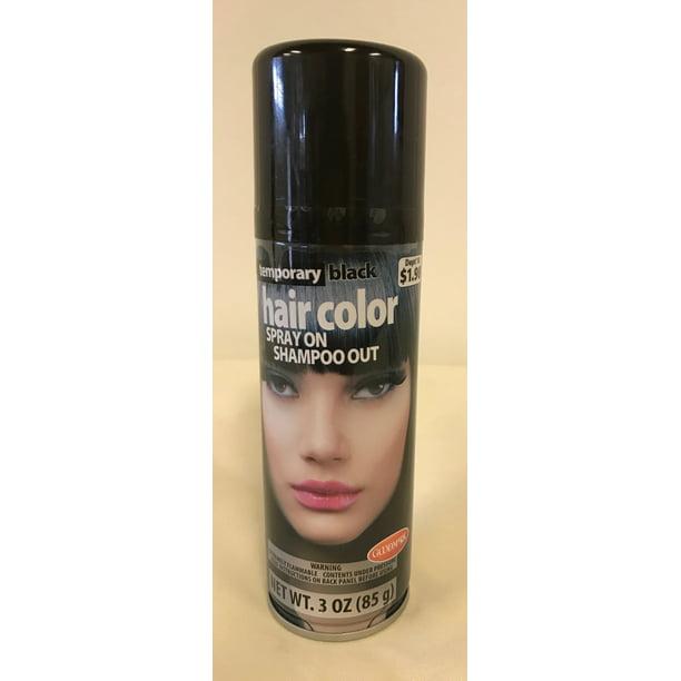 Goodmark Halloween Temporary Hair Color Spray Black Walmart Com Walmart Com
