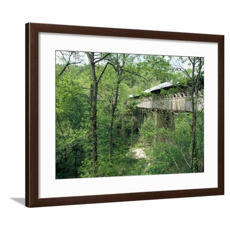 Horton Mill Covered Bridge, Alabama, USA Framed Print Wall Art By William (Horton Mill)