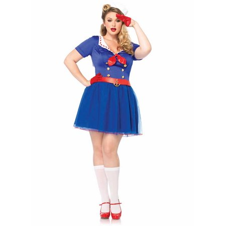 Plus Size Ahoy There Honey Sailor Costume by Leg Avenue 85290X