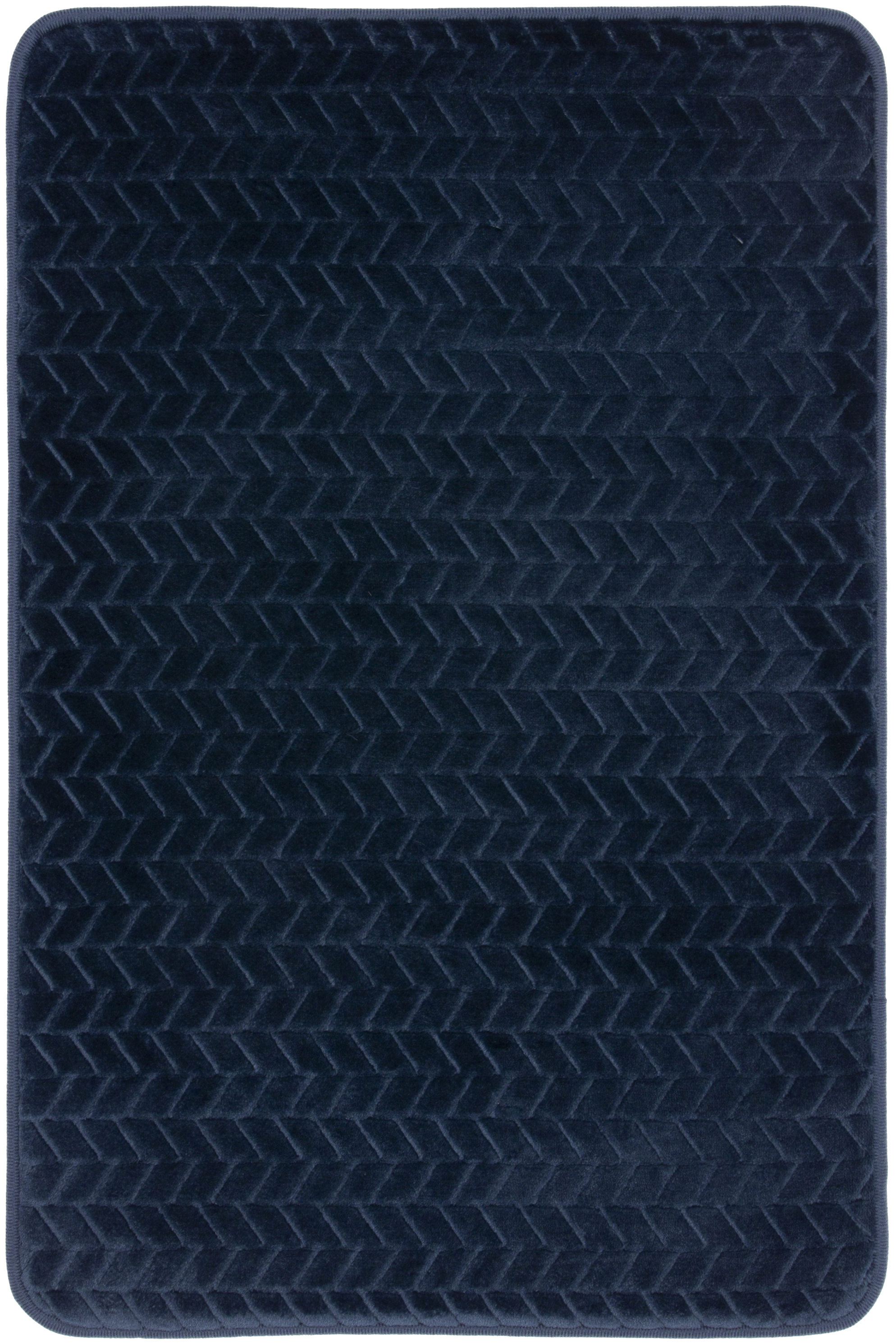 Mohawk Memory Foam Bath Rug In Navy 18 X 27 Brickseek