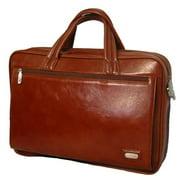 K-Cliffs Full Grain Leather Executive Portfolio 15. 5 x 11 x 3 inch Brown