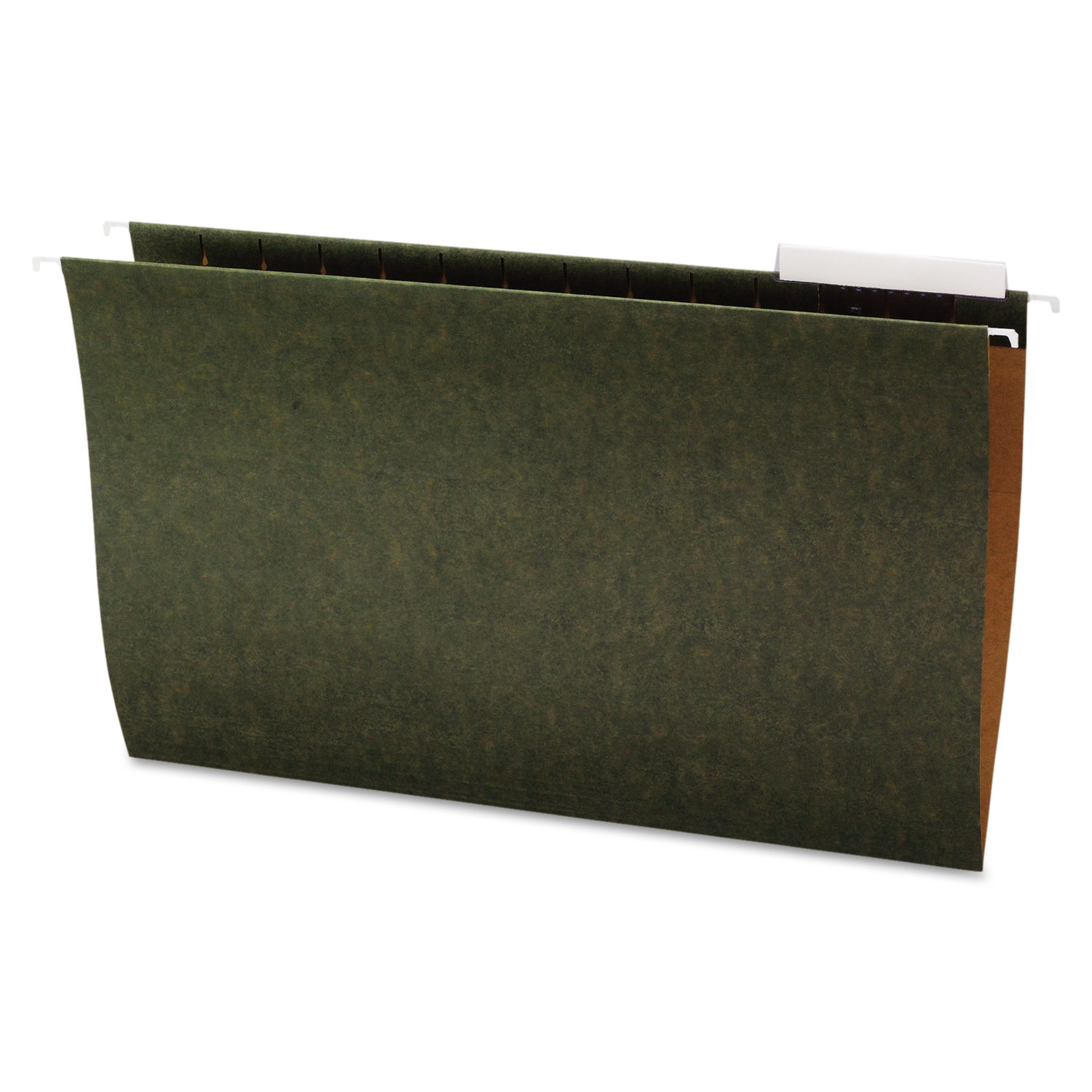 Office Impressions Hanging File Folders, 1/3 Tab, 11 Point Stock, Legal, Standard Green, 25/Box