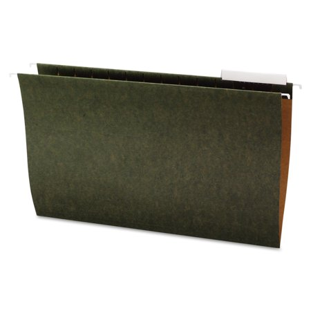 Office Impressions Hanging File Folders  1 3 Tab  11 Point Stock  Legal  Standard Green  25 Box