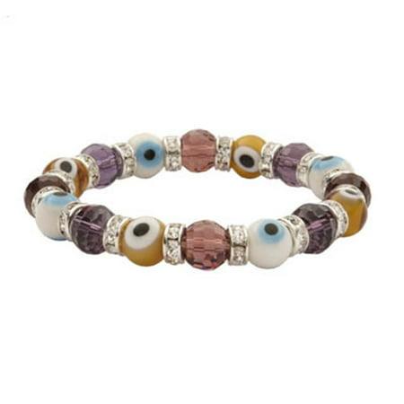 Image of Alexander Kalifano BLUE-BEE-14 Evil Eye Gorgeous Glass Bracelets - Multicolor