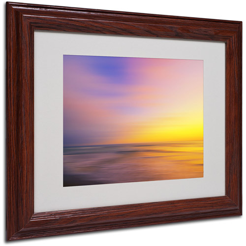 "Trademark Fine Art ""Metallic Sunset"" Matted Framed Art by Philippe Sainte-Laudy"