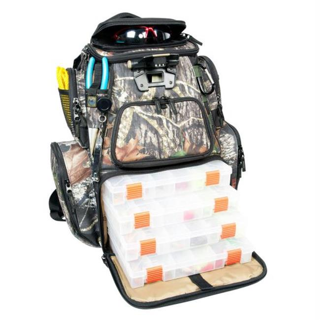 Wild River WCT604 Wild River NOMAD Mossy Oak Tackle Tek Lighted Backpack with 4 PT3600 Trays