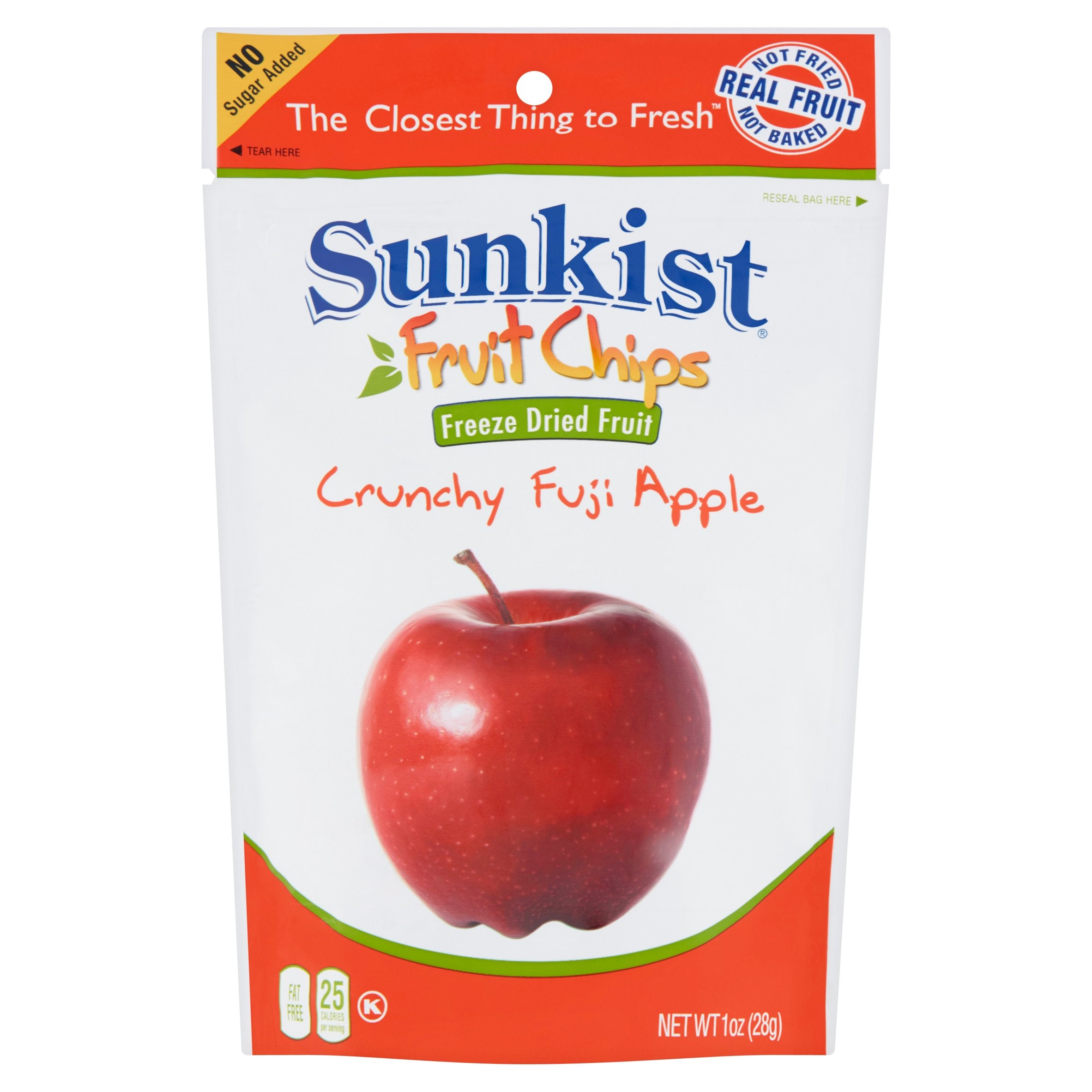 Sunkist Fruit Chips, Crunchy Fuji Apple, 1 Ounce