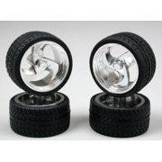 1202 Tri-Blade Chrome Rims w/Tires