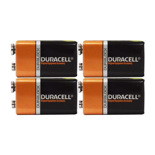 4 Count - Duracell MN1604 9V Volt 6LR61 Duralock Coppertop Alkaline Batteries