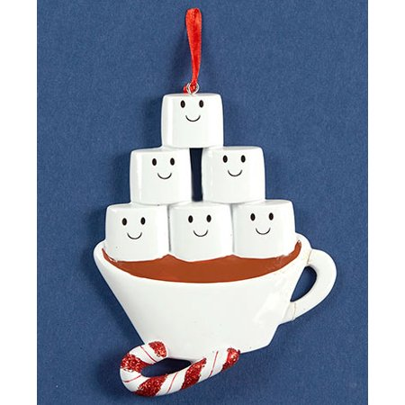Hot Chocolate Family Ornaments (Family of 6)