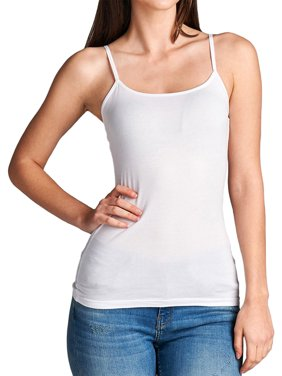 12b39f35fe22e Product Image Ola Mari Junior Size Plain Solid Adjustable Spaghetti Strap  Tank Top