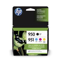 HP 950 Ink Cartridges - Black, Cyan, Magenta, Yellow, 4 Cartridges (X4E06AN)