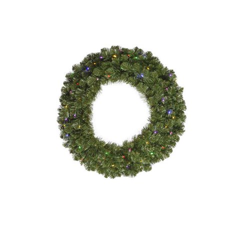 Vickerman G125626LED 24 in. Grand Teton Wreath with 35 Multi-Color LED Light - image 1 de 1