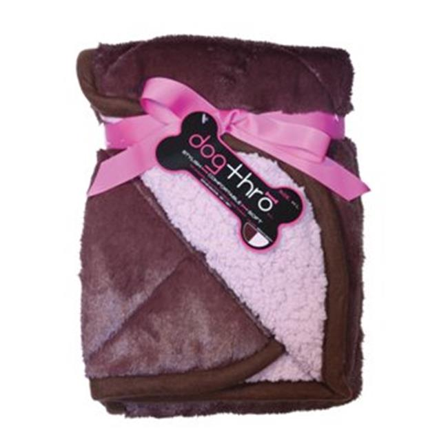 PetProjekt LBBDT766 Large Dogthro Pet Blanket, Brown and Berry