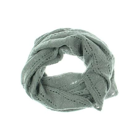 Verloop Womens Pointelle Metallic Infinity Scarf Gray (Pointelle Scarf)
