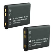 Replacement Battery for Olympus Li40B (2 Pack)