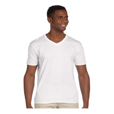 Gildan Men's Softstyle Preshrunk Heather V-Neck T-Shirt, Style G64V00 Eco Heather V-neck Shirt