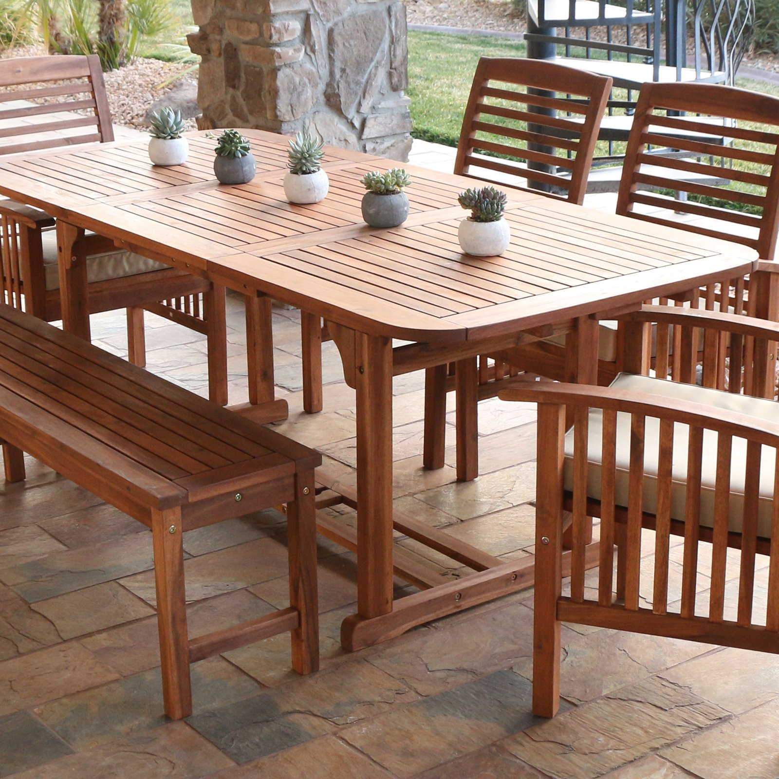 Acacia Wood Outdoor Dining Table