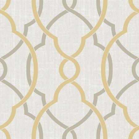 Sausalito Peel & Stick Wallpaper Taupe - Brewster