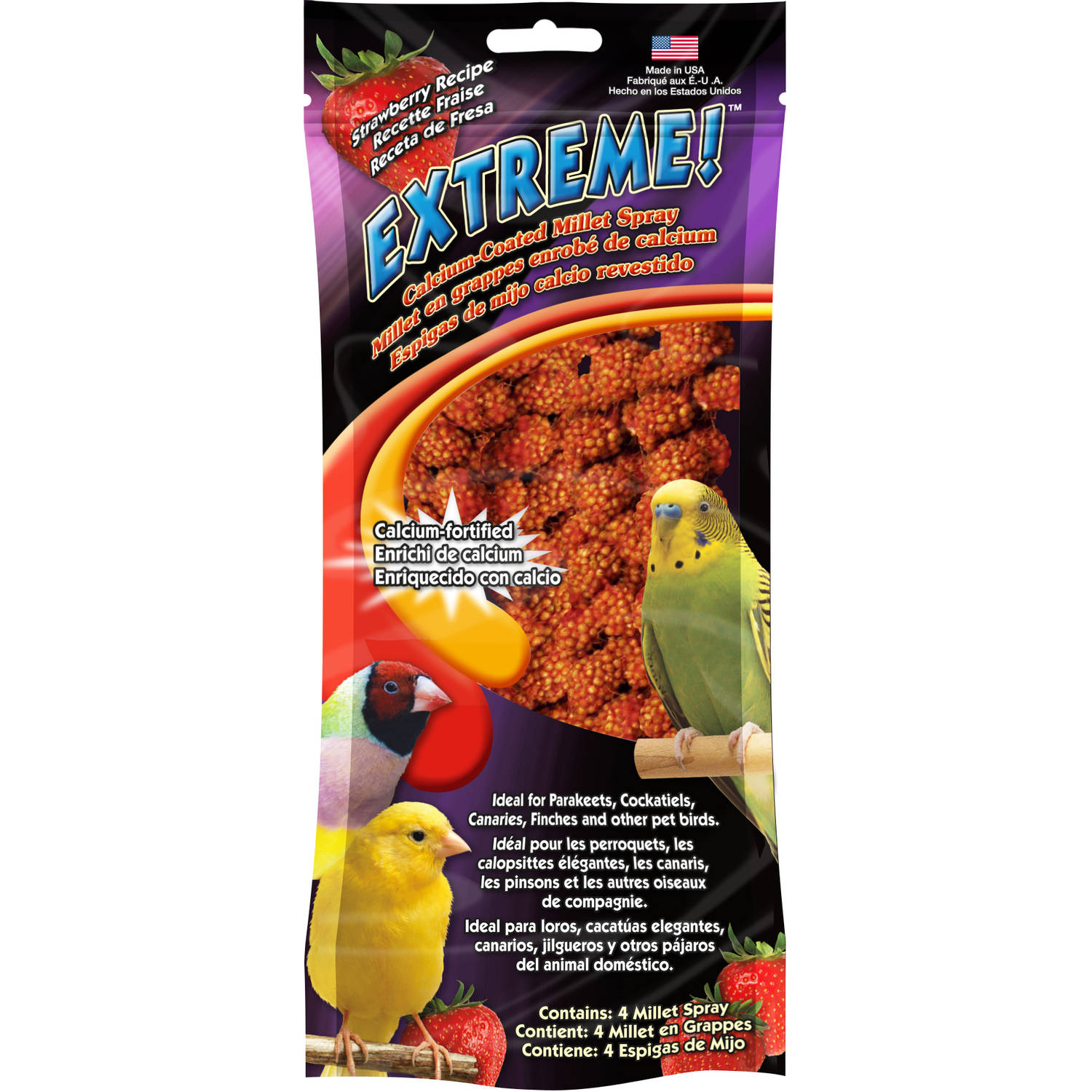 (2 Pack) F.M. Brown Extreme Honey/Calcium Millet Spray, 4pk