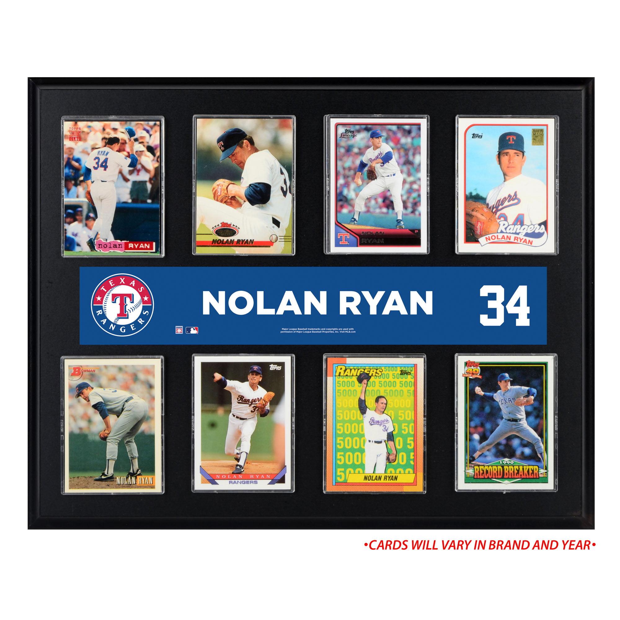 "Nolan Ryan Texas Rangers Fanatics Authentic 12"" x 15"" Sublimated Trading Card Plaque - No Size"