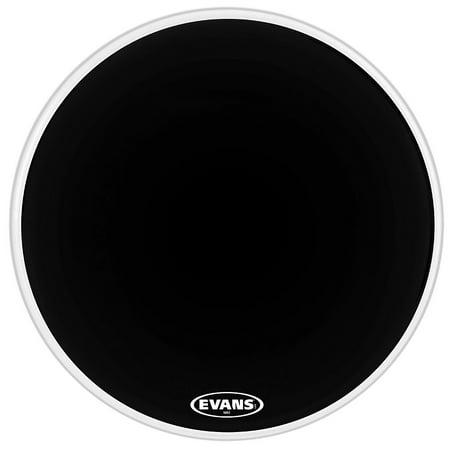 Evans MX2 Black Marching Bass Drum Head Black 20 in. Black Marching Bass