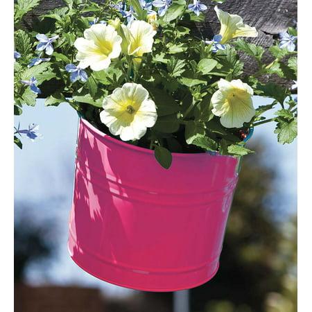 Decorative Outdoor Metal Bucket Hanging Planter for ...