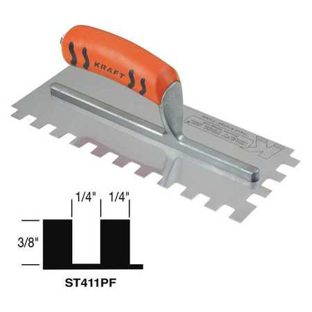 Superior Tile Cutter Inc. And Tools 11, Trowel, Square Notch, ST411PF
