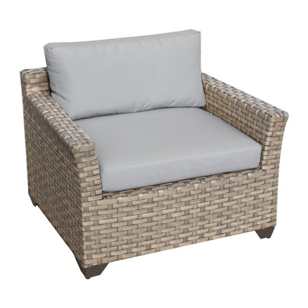 Tk Classics Monterey Wicker Outdoor Club Chair Set Of 2 Cushion