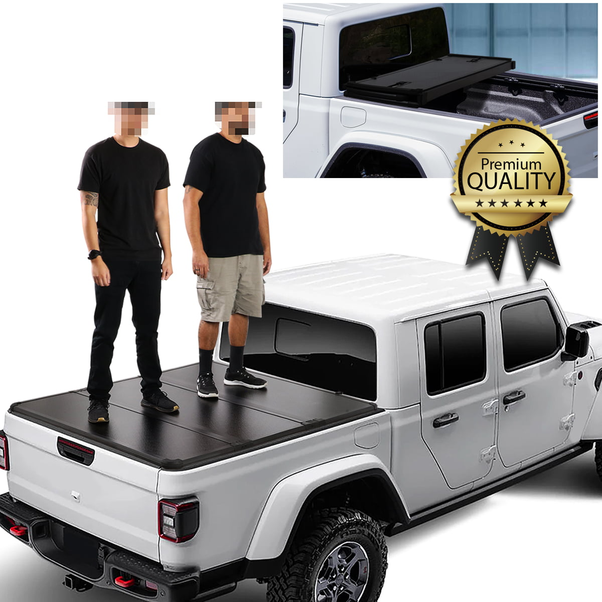 For 2020 Jeep Gladiator Jt Pickup Truck Bed Hard Top Folding Solid Tri Fold Tonneau Cover Kit Walmart Com Walmart Com