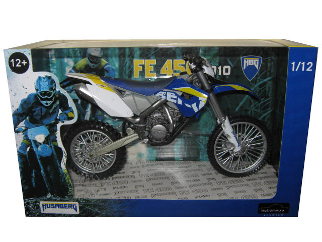 2010 Husaberg FE 450 Blue Dirt Bike Motorcycle Model 1 12 by Automaxx by Automaxx