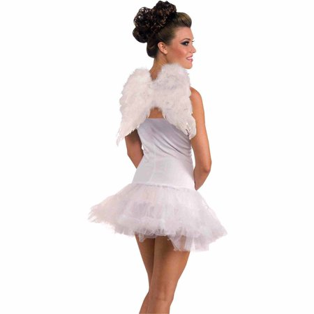 Cemetery Angel Halloween Costume (Club Angel Wings Adult Halloween Costume)